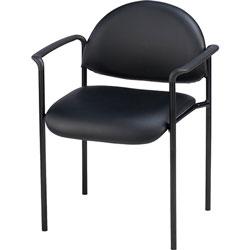 Lorell Reception Guest Chair,23-3/4 inx23-1/2 inx30-1/2 in,Black Vinyl