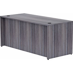 Lorell Desk Shell, Rectangular, 66 inx30 inx29-1/2 in, Weathered Charcoal