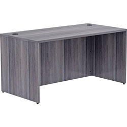 Lorell Desk Shell, Rectangular, 60 inx30 inx29-1/2 in, Weathered Charcoal