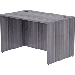 Lorell Desk Shell, Rectangular, 48 inx30 inx29-1/2 in, Weathered Charcoal