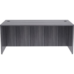 Lorell Desk Shell, Rectangular, 72 inx36 inx29-1/2 in, Weathered Charcoal