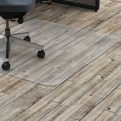 Lorell Hardfloor Chairmat, PC, Non-Stud, 36 inx48 in, Clear