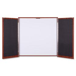 Lorell Presentation Cabinet, 47-1/4 inx4-3/4 inx47-1/4 in, Cherry