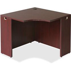 Lorell Corner Desk, 36 in x 42 in x 29-1/2 in, Mahogany