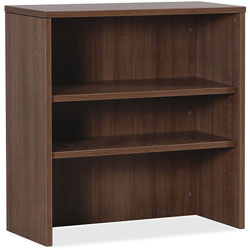 Lorell Stack Bookcase, 36 in x 15 in x 36 in, Walnut