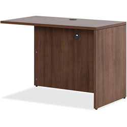 Lorell Return, 48 in x 24 in x 29-1/2 in, Walnut