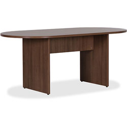Lorell Oval Conference Table, 72 in x 36 in, Walnut