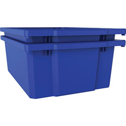Lorell Bin, 12-1/4 inWx16-3/4 inLx6 inH, Blue