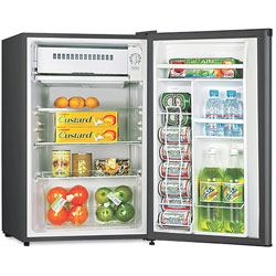 Lorell Compact Refrigerator, 3.3L, 20-1/2 in x 18-3/10 in x 34-3/10', BK