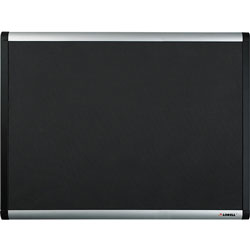 Lorell Mesh Bulletin Board w/ Hardware, 4' x 6', Black