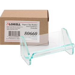 Lorell Paper Clip Holder, Green Edge