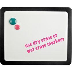 Lorell Magnetic Dry-Erase Board, 1 inx15-7/8 inx12-7/8 in, Black