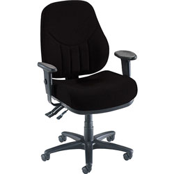 "Lorell Black High-back Chair with Molded Seat/Back, 26 7/8"" x 26"" x 42 1/2"""
