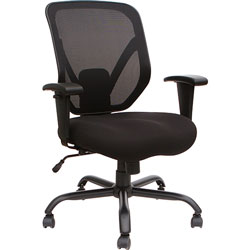 Lorell Chair, Mesh Back, 29-1/2 inWx29-1/2 inLx42-1/10 inH, Black