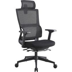 Lorell Chair, Lumbar Support, 28-1/2 inWx28-1/2 inLx51 inH, Black