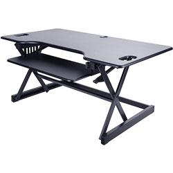 Lorell Desk Riser, Adjustable, 45 lb Cap, 46 inx24 inx20 in, Black