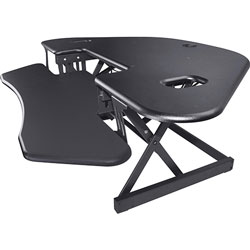 Lorell Corner Desk Riser, Adjustable, 45-3/5 inWx31 inLx18-1/10 inH, Black