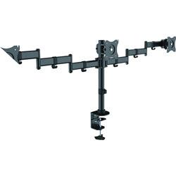 Lorell Monitor Arm, Triple, 57 inWx4-1/2 inLx21 inH, Black