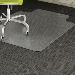 Lorell Chair Mat, Low Pile, 45 inx53 in, Clear