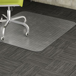 Lorell Chair Mat, Low Pile, 46 inx60 in, Clear