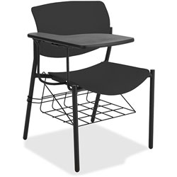 Lorell Student Chairs with Tablet, 21-1/2 in x 25 in x 33 in, 2/CT, Black