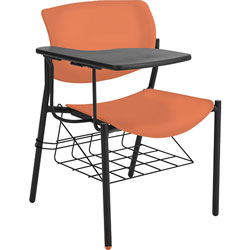 Lorell Student Chairs, w/Tablet, 21-1/2 inx25 inx33 in, 2/CT, Orange