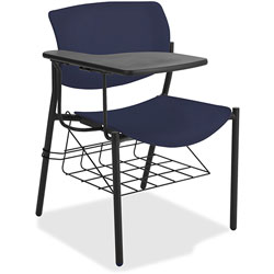 Lorell Student Chairs, w/Tablet, 21-1/2 inx25 inx33 in, 2/CT, Dark Blue
