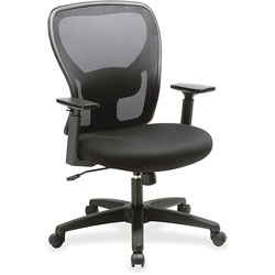 Lorell Task Chair, Mesh Mid Back, 27-1/2 in x 27-3/4 in x 41-7/8 in, Black