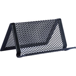 Lorell Steel Mesh Business Card Holder, Black