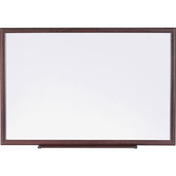Lorell Dry-Erase Board, 3 in x 2 in, Brown/White