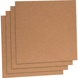 Lorell Natuaral Cork Panels, 12 in x 12 in, Brown
