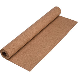 Lorell Natural Cork Roll, 24 in x 48 in