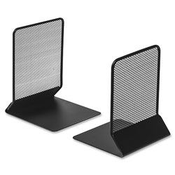 Lorell Mesh Bookend, 5 in x 5-1/5 in x 6 in, Black