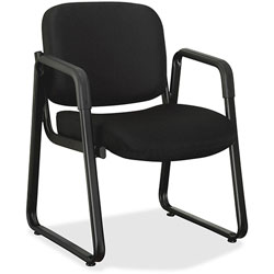 Lorell Guest Chair, 24-3/4 inx26 inx33-1/2 in, Black Fabric