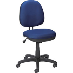 Lorell Contoured Back Task Chair, Blue