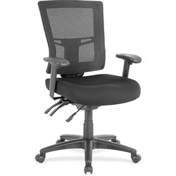 Lorell Midback Mesh Chair, 25-3/8 in x 25-3/8 in x 40 in, Black
