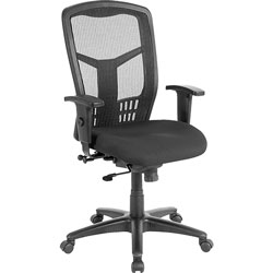 Lorell Exec High-Back Swivel Chair, 28-1/2 in x 28-1/2 in x 45 in, Black