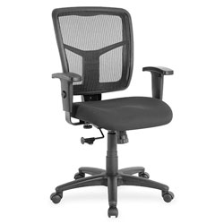 Lorell Mid-Back Chair, 25-1/4 inx23-1/2 inx40-1/2 in, Black