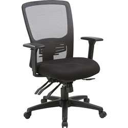 Lorell Chair, High-Back, 28-1/2 inWx28-1/2 inLx45 inH, Black