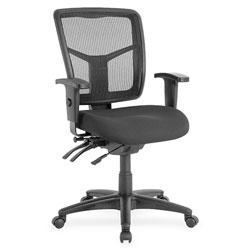 Lorell Mid-Back Seat Slider Chair, 25 inx25 inx40-1/2 in, Black