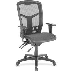 Lorell Mesh Swivel Executive Chair, 28-1/2 in x 28-1/2 in x 45 in, Black