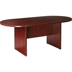 "Lorell Oval Conference Table, 72"" x 36"" x 29-1/2"", Mahogany"