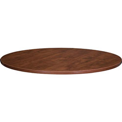 Lorell Round Conference Tabletops, 48 in Diameter, Cherry