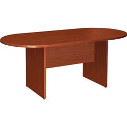Lorell Oval Conference Table, Top & Base,72 inx36 inx29-1/2 in, Cherry