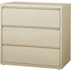 Lorell 3-Drawer Lateral File, Putty