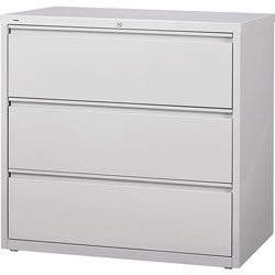 Lorell 3-Drawer Lateral File, Light Gray