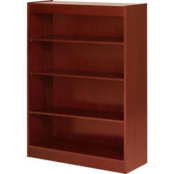 "Lorell 4 Shelf Veneer Panel Bookcase, 36"" x 12"" x 48"", Cherry"