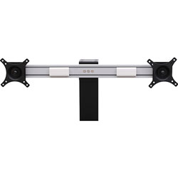 Lorell Dual Monitor Bracket for Riser, 6-2/5 in x 30-1/2 in x 2-3/4 in, SR