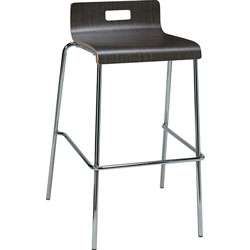 Lorell Stool, Brentwood, Low-back, 20-1/2 inx22x34 in, 2/CT, Espresso
