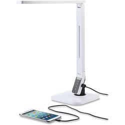 Lorell Smart Desk LED Lamp, USB, White